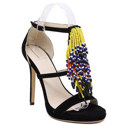 1c16a680f97 LIMITED OFFER  2019 Trendy Fringe and Beading Design Women s Sandals ...