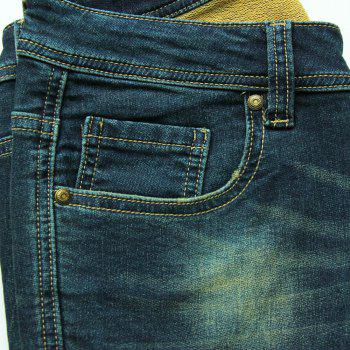 Fashionable Ripped Mid-Waist Jeans For Women - XL XL