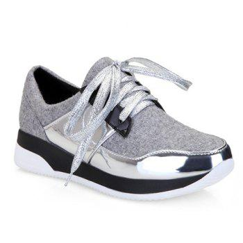 Trendy Splicing and Suede Design Women's Athletic Shoes