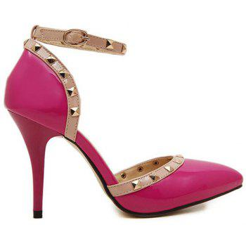 Fashionable Rivets and Two-Piece Design Women's Pumps - 35 35