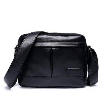 Leisure PU Leather and Black Color Design Men's Messenger Bag