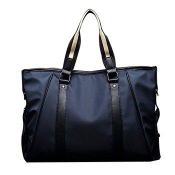 Fashionable PU Leather and Color Block Design Men's Briefcase