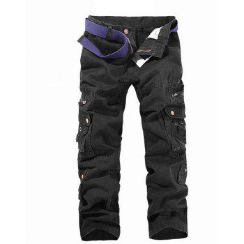 Zip Up Multi Pockets Cargo Pants