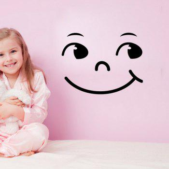 Fashion Smiling Face Pattern Wall Stickers For Bedroom Decoration
