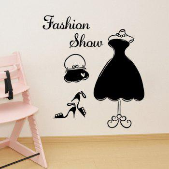 Creative Dress Pattern Wall Stickers For Shopwindow Decoration
