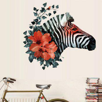 Fashion Removable Waterproof Zebra Pattern Wall Stickers For Living Room Bedroom Decoration
