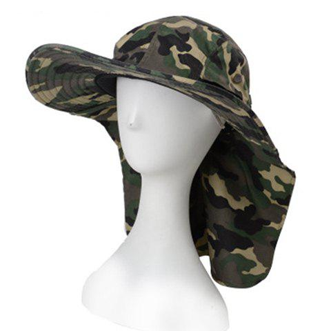 Stylish Camouflage Pattern Sun-Resistant Drawstring Men's Bucket Hat - ARMY GREEN