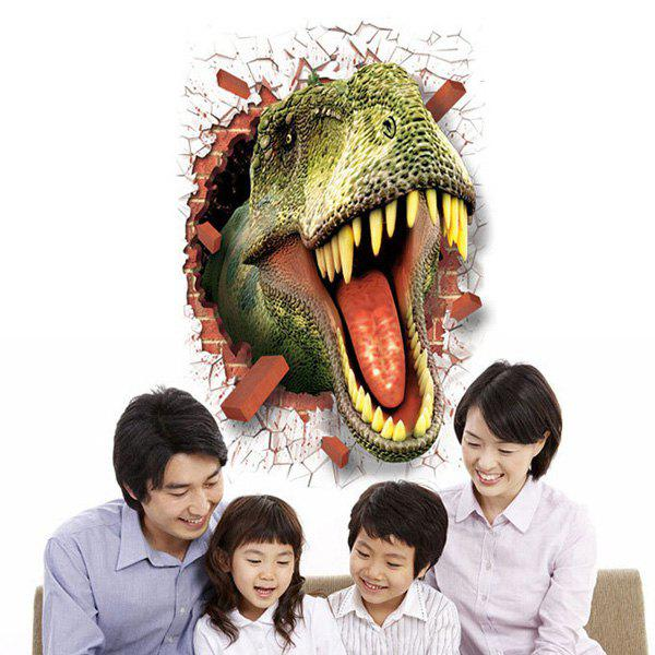 Fashion Removable Waterproof Dinosaur Pattern 3D Wall Stickers For Living Room Bedroom Decoration - COLORMIX