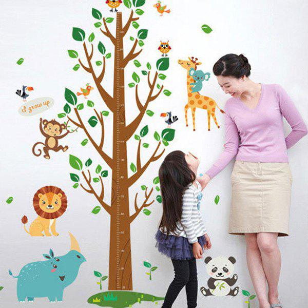 Fashion Bedroom Decoration Removable Waterproof Animals Pattern Height Wall Stickers For Kids kids draw animals