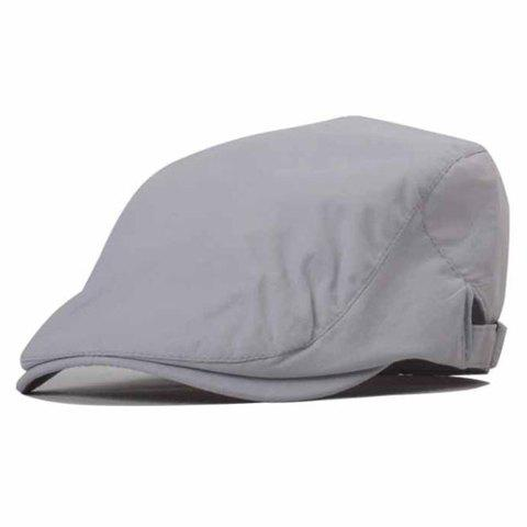 Trendy Adjustable Solid Color Cabbie Hat For Men - GRAY