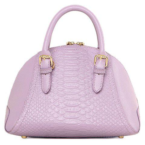 Graceful Buckles and Crocodile Print Design Tote Bag For Women