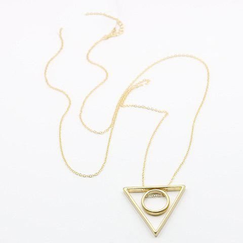 Elegant Triangle Ring Alloy Sweater Chain For Women
