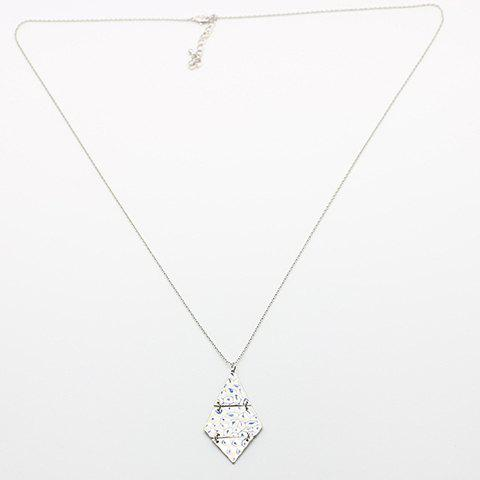 Elegant Triangle Rhombus Alloy Sweater Chain For Women - SILVER