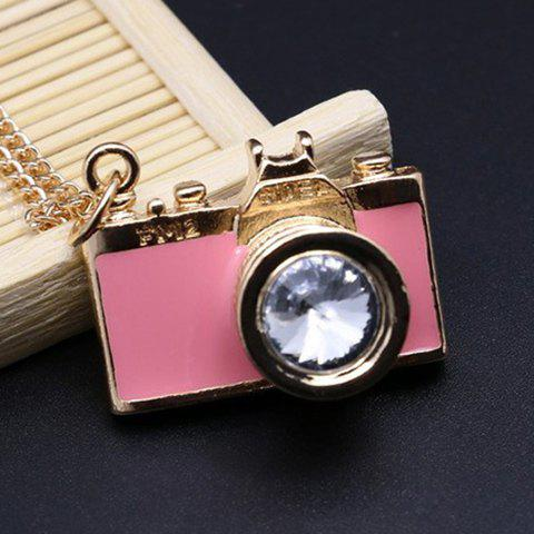 Stylish Rhinestone False Camera Sweater Chain For Women