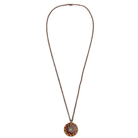 Flower Petals Colored Glaze Sweater Chain - COLORMIX