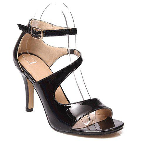 Fashionable Stiletto Heel and Patent Leather Design Women's Sandals от Dresslily.com INT