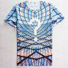 Modish Round Neck 3D Question Mark Pattern Short Sleeve Men's T-Shirt - COLORMIX M