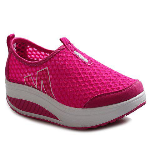 Leisure Letter and Splicing Design Women's Athletic Shoes - ROSE 36