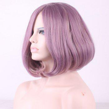Bob Style Straight Side Parting Two-Tone Mixed Short Synthetic Cosplay Wig For Women - COLORMIX