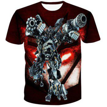 Fashion Pullover 3D Robot Printed T-Shirt For Men