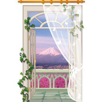 Fashion Balcony Landscape Pattern 3D Wall Stickers For Living Room Bedroom Decoration - COLORMIX