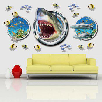 Fashion Underwater World Pattern 3D Wall Stickers For Living Room Bedroom Decoration