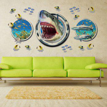 Fashion Underwater World Pattern 3D Wall Stickers For Living Room Bedroom Decoration - COLORMIX