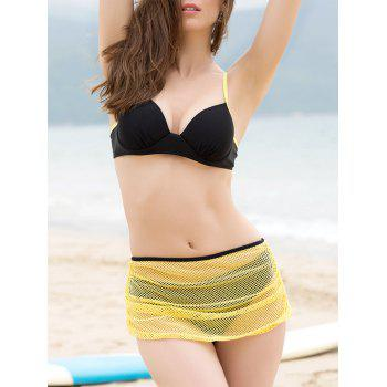 Alluring Sexy Bikini + Yellow Skirt + T-Shirt Four Piece Swimwear For Women