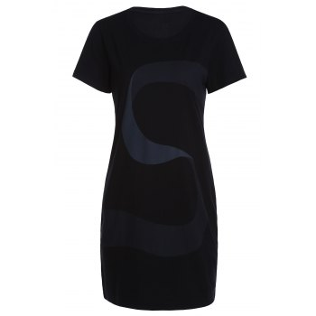 Casual Style Round Neck Short Sleeve Letter S Print Women's T-Shirt