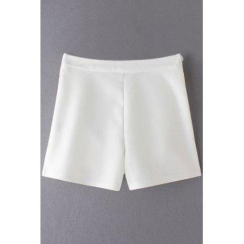 Stylish High Waisted Solid Color Shorts For Women