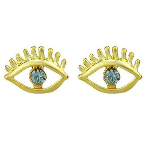 Pair of Unique Eye Pattern Earrings For Women - BLUE