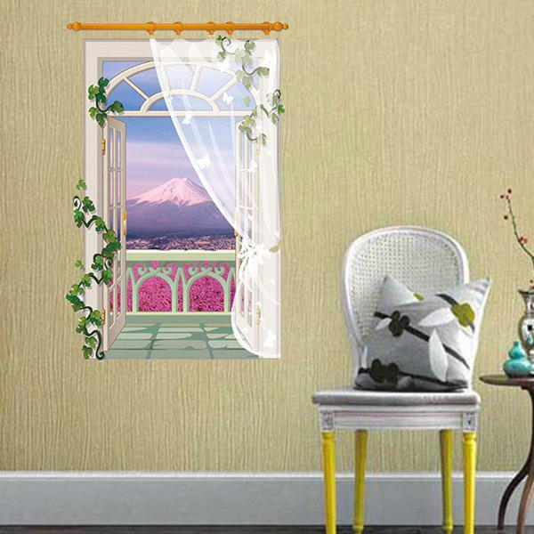 Fashion Balcony Landscape Pattern 3D Wall Stickers For Living Room Bedroom Decoration