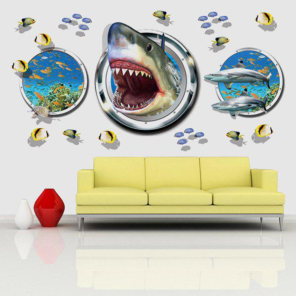 Fashion Underwater World Pattern 3D Wall Stickers For Living Room Bedroom Decoration велосипед cube access wls disc 27 5 2015
