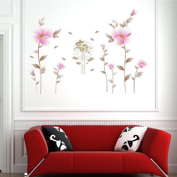 Fashion Waterproof Flowers Pattern Wall Stickers For Living Room Bedroom Decoration