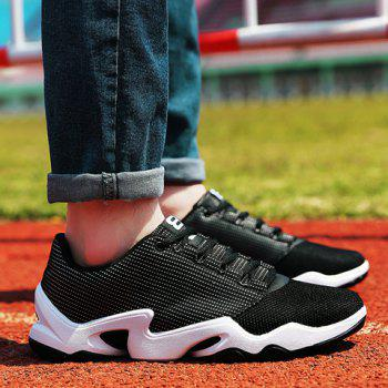 Stylish Lace-Up and Black Color Design Men's Athletic Shoes - 42 42