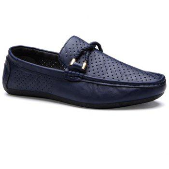Stylish Breathable and PU Leather Design Men's Casual Shoes