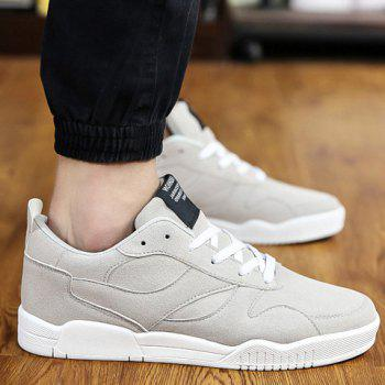 Stylish Suede and Solid Colour Design Men's Casual Shoes - GRAY 39