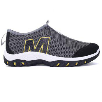 Stylish Splicing and Letter Design Men's Casual Shoes - GRAY 40