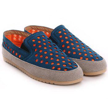 Stylish Elastic and Circle Pattern Design Men's Casual Shoes - DEEP BLUE 41