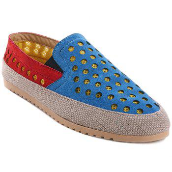 Stylish Elastic and Circle Pattern Design Men's Casual Shoes