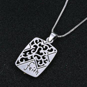 Delicate Cross Heart Faith Pendant Necklace For Men