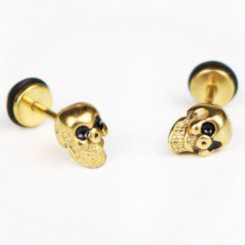 Pair of Chic Skull Earrings For Men -  GOLDEN
