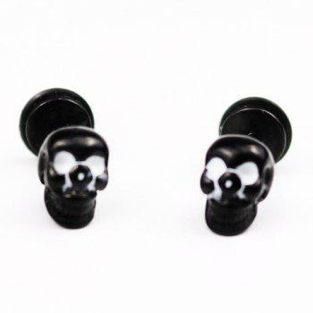 Pair of Chic Skull Earrings For Men