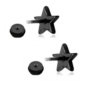 pair of vintage star earrings for men black in mens