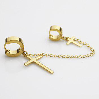 ONE PIECE Trendy Cross Shape Earring For Men
