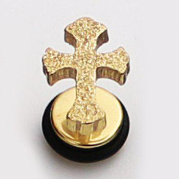 ONE PIECE Delicate Cross Earring For Men