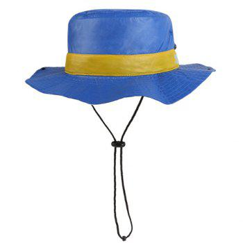 Chic Button Drawstring Sun-Resistant Women's Collapsible Bucket Hat