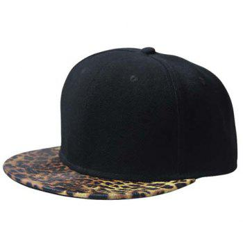 Stylish Leopard Pattern Brim Men's Black Baseball Cap