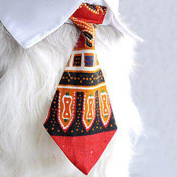 Chic Quality Gentleman Style Printing Pattern Dog Neck Tie Collar