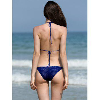 Beading Crochet Bikini Set - BLUE ONE SIZE(FIT SIZE XS TO M)